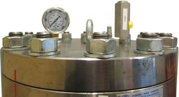 hydrostatic pressure test chamber pressure test vessel
